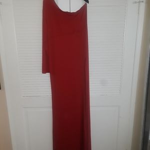 Beautiful Red one sleeve dress by BCBG size large